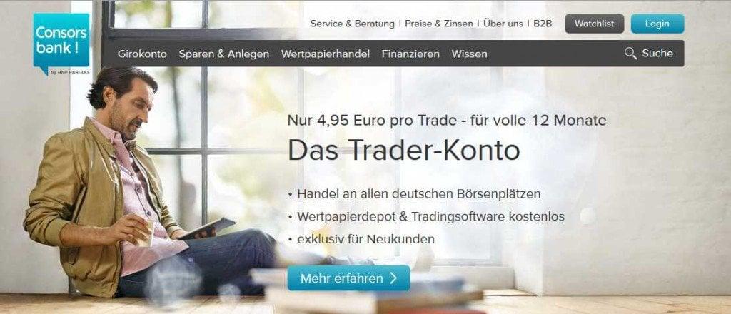 Aktien Broker Vergleich - Consors