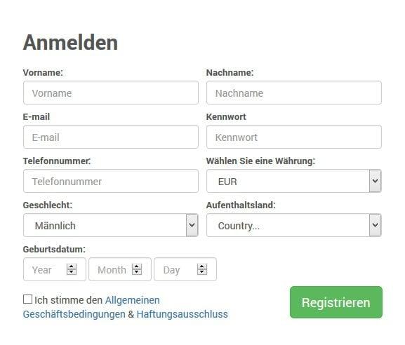 BDSwiss Erfahrungen - Registrierung