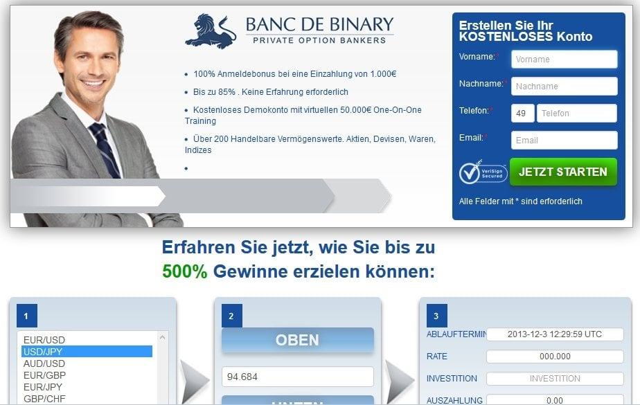 Bank of binary erfahrungen