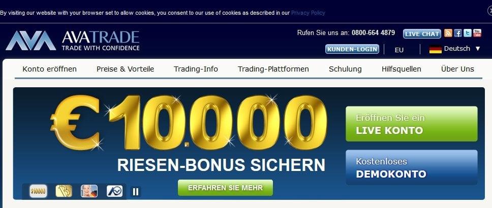 Forex broker mit bonus