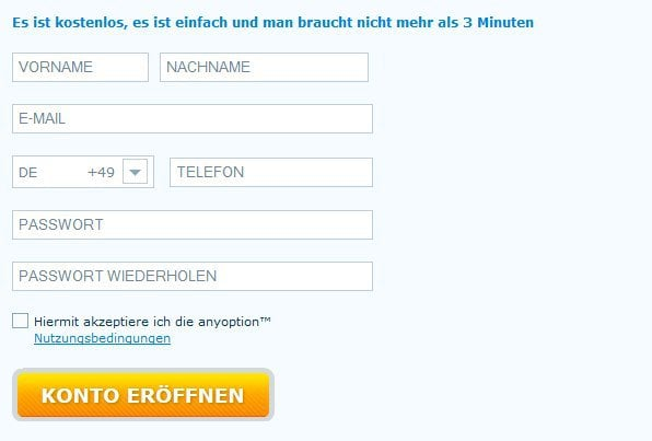 Anyoption Telefonnummer