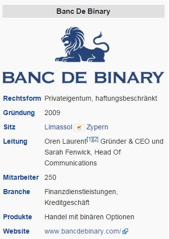 Banc de binary personal broker