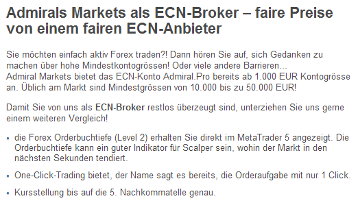 Ecn broker in deutschland
