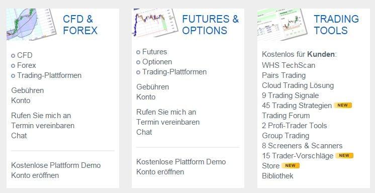 WH SelfInvest_ Futures, CFD, Devisen, Aktien u_ Optionen_ Niedrige Gebühren_ Leg