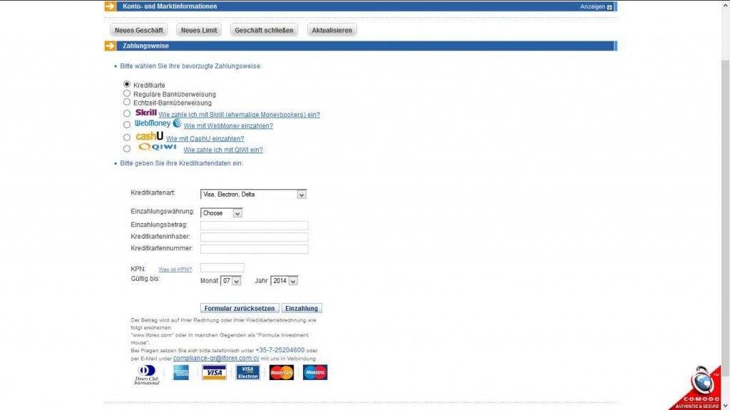 iforex einzahlung