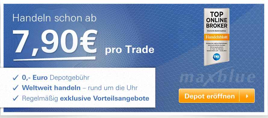 maxblue Handelskosten