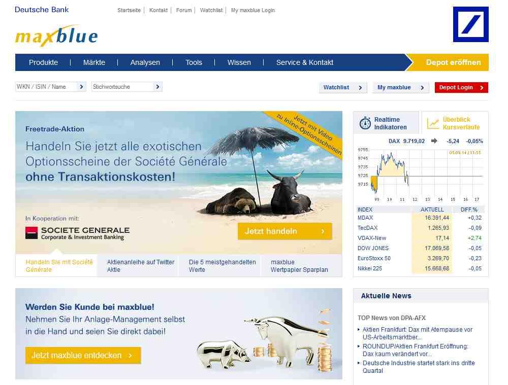 maxblue Webseite