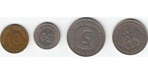 verteilung der währungen - deutsche mark