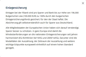 EU Einlagensicherung bis 100.000 Euro staatlich gesichert.
