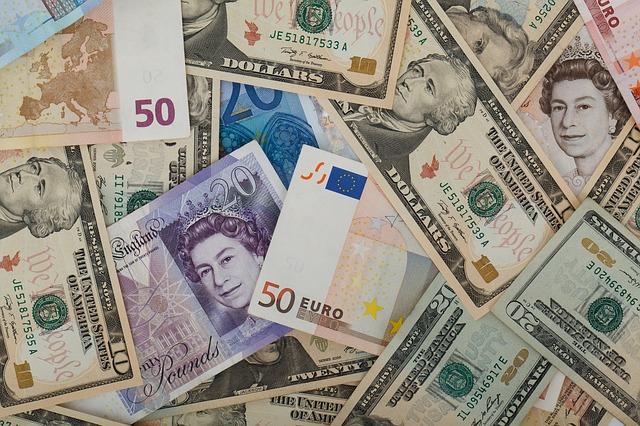 Mischung von Devisen - Konsumentkredit in verschieden Währungen - Forex Trading und Handel