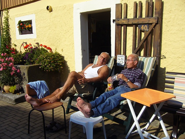 Rentner in der Sonne
