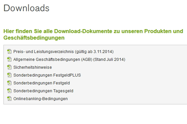 PBB Direkt Test: Unterlagen per Download