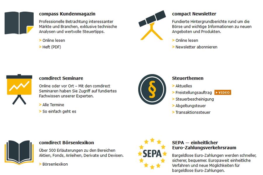 Comdirect CFD Handel: Kostenloser Infoservice!