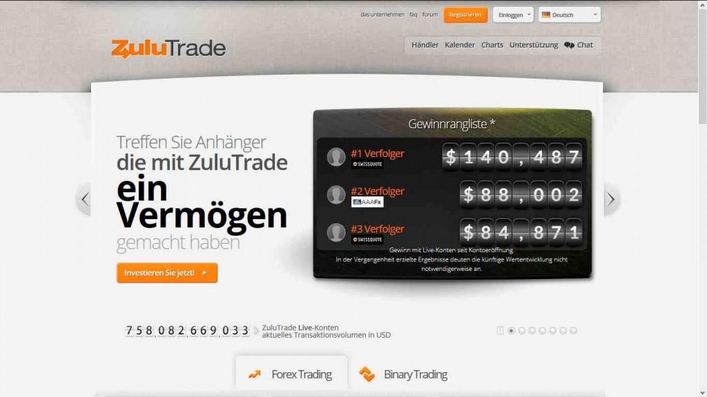 Forex broker zulutrade