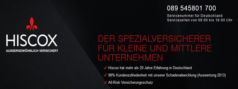 Spezialversicherungen von Hiscox