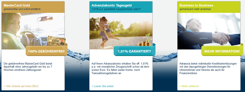 Advanzia Bank Produkte