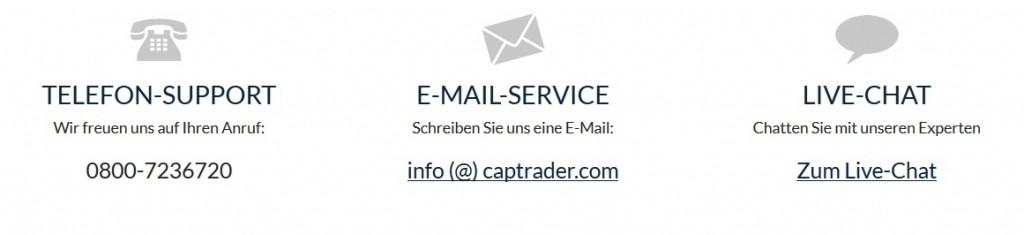 CapTrader Erfahrungen - Service