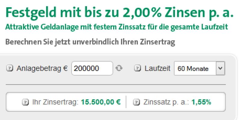 Festgeld der Creditplus Bank