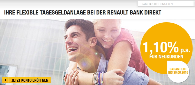 Tagesgeld der Renault Bank Direkt
