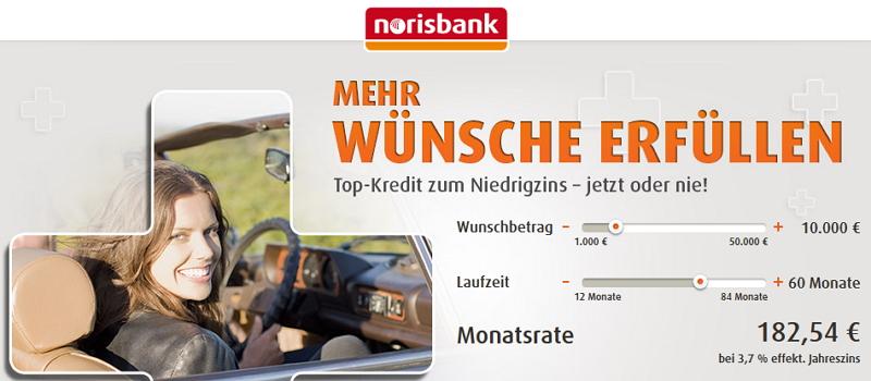 Wünsche erfüllen mit dem Ratenkredit der Norisbank