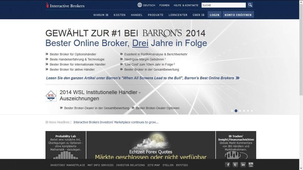 Interactive Brokers - Webseite