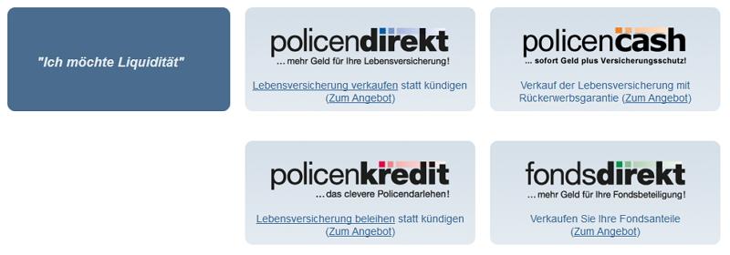 Möglichkeiten bei Policen Direkt