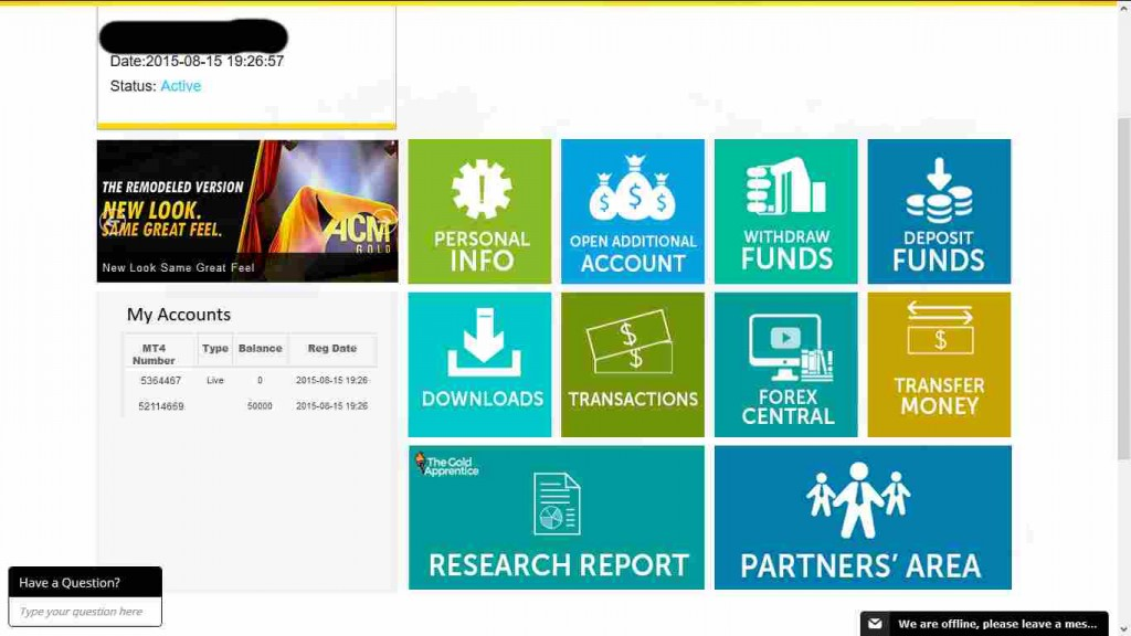 ACM Gold Erfahrungen - Handelskonto