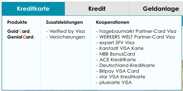 Die Hanseatic Bank bietet Partnerkarten