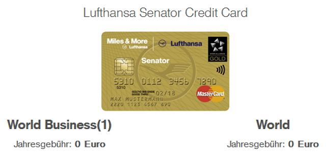 Die Miles & More Senator Card verdient man sich
