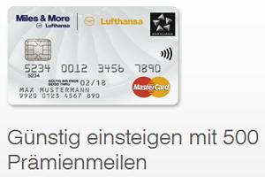 Die günstigste Miles & More Kreditkarte