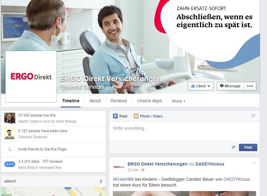 ERGO Direkt Versicherungen Facebook