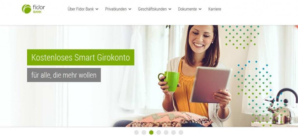 Fidor Bank Erfahrungen - Webseite