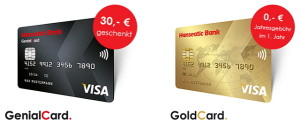 Kreditkarten der Hanseatic Bank