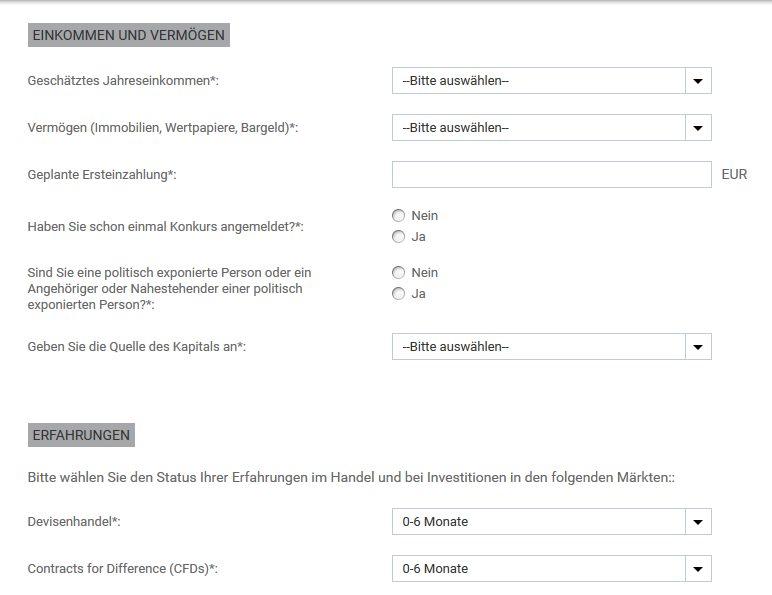 Sensus Capital Markets Erfahrungen - Online Formular 3