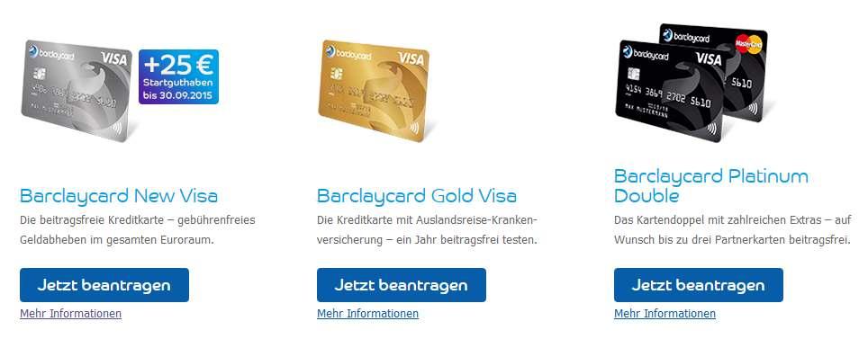 Barclaycard Erfahrungen - Kreditkartenauswahl