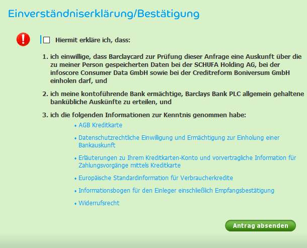 Barclaycard Erfahrungen - Schufa