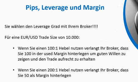 margin, leverage und pips