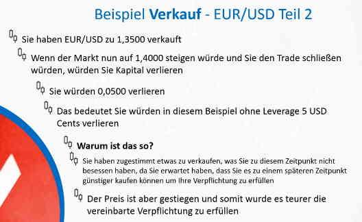 verkauf eurusd - Eur Beispiel