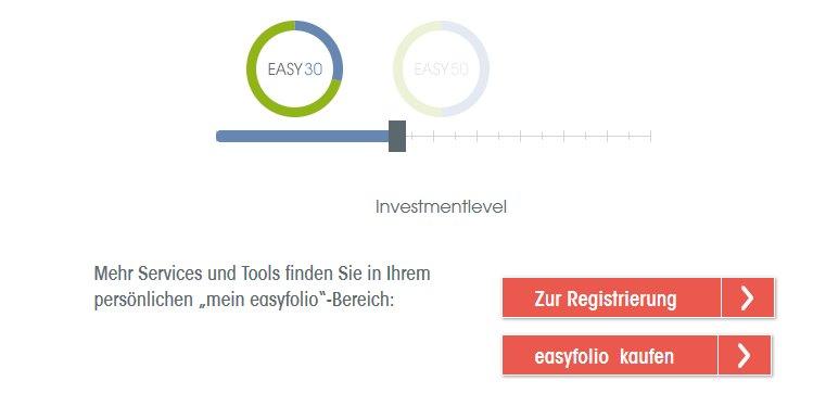 easyfolio Erfahrungen - Fondswahl