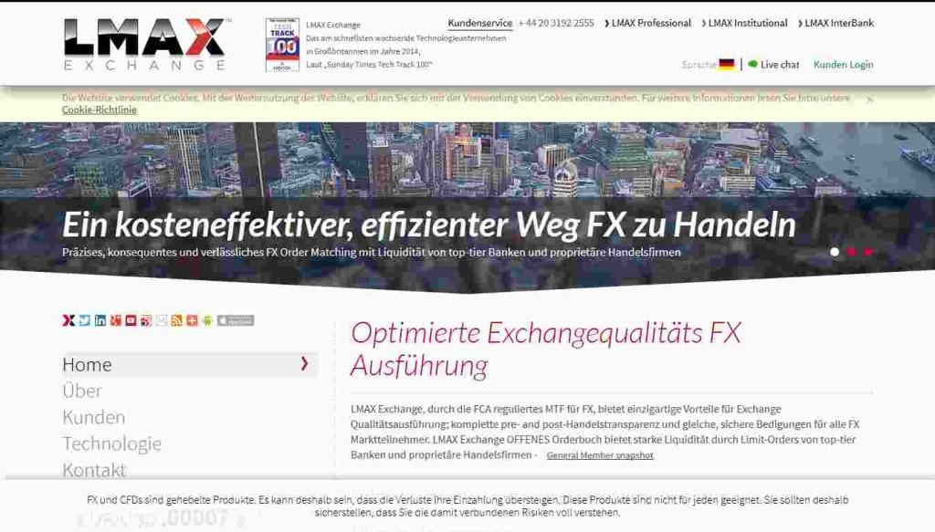 LMAX Erfahrungen - Webseite