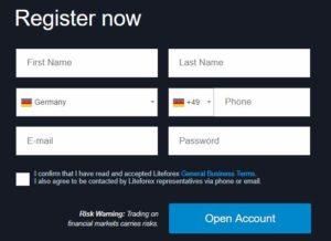 LiteForex Erfahrungen - Registrierung