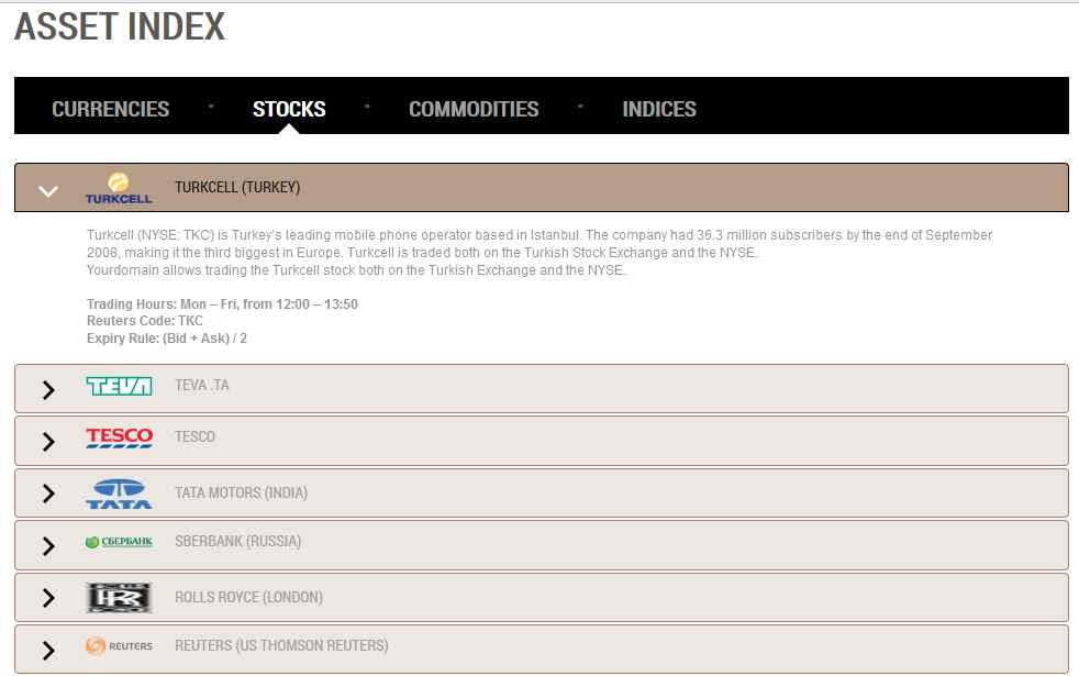 NordFX Erfahrungen - Asset Index