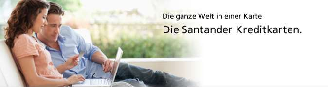 Santander Kreditkarten - Header