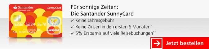 Santander Kreditkarten - Sunny Card