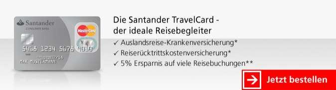 Santander Kreditkarten - Travelcard