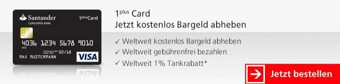 Santander Kreditkarten - Visa 1 Plus Karte