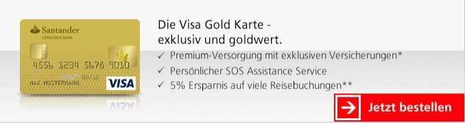 Santander Kreditkarten - Visa Gold Karte