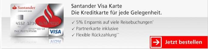Santander Kreditkarten - Visa Karte