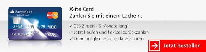 Santander Kreditkarten - Visa Xite Karte