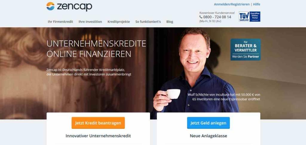 Zencap Erfahrungen - Webseite